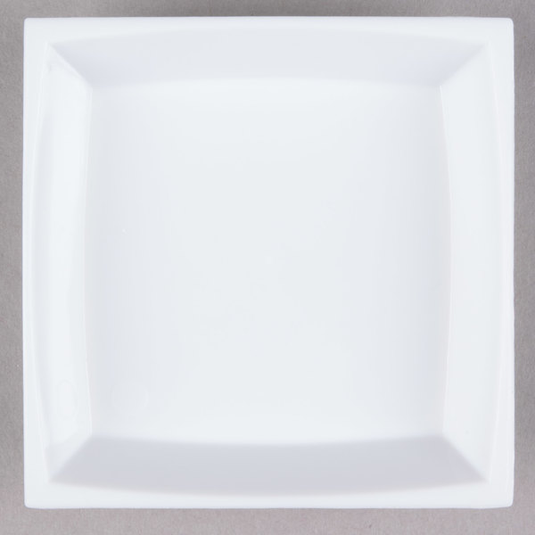 WNA Comet APTSQ25 Petites 2 1/2 inch White Square Dish 50 / Pack