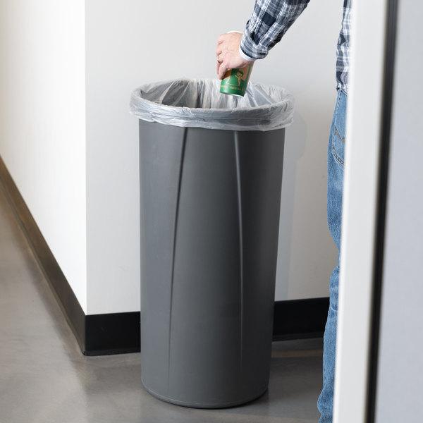 Carlisle 34312223 Centurian 22 Gallon Gray Round Tall Trash Can