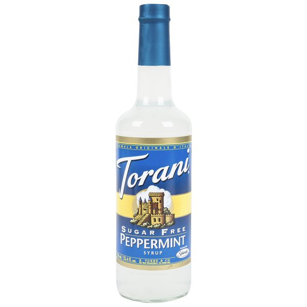Torani 750 mL Sugar Free Peppermint Flavoring Syrup