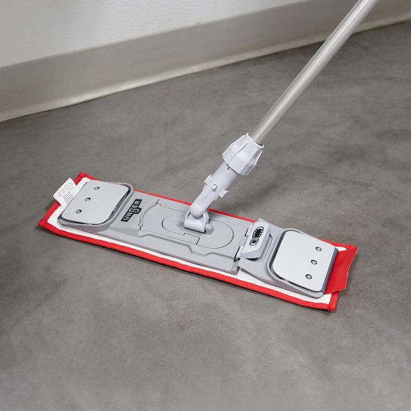 """Unger DM40R SmartColor 16"""" Red Damp Mop Pad"""