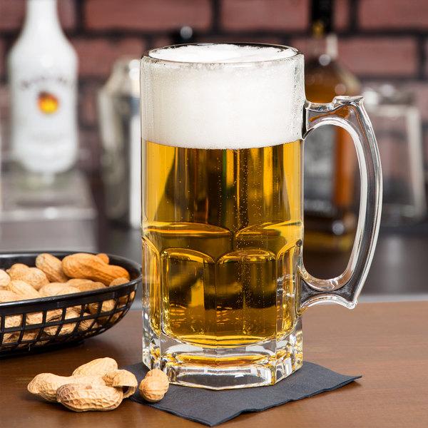 Libbey 5262 Gibraltar 1 Liter Super Beer Mug - 12/Case Main Image 2