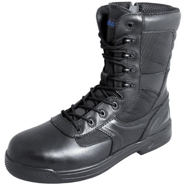 Genuine Grip 5080 Skynight Women's Black Composite Toe Non Slip Full Grain Leather Tactical Boot with Zipper Lock Main Image 1
