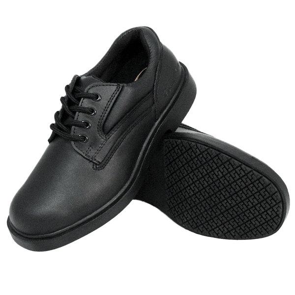 Genuine Grip 7110 Men's Black Oxford Steel Toe Non Slip Leather Shoe Main Image 1
