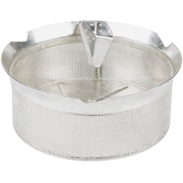"Tellier M5010 1/32"" Perforated Replacement Sieve for # 5 Food Mill - Tin-Plated Steel Main Image 1"