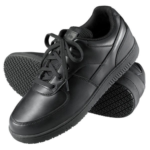 Genuine Grip 2010 Men's Black Leather Sport Classic Non Slip Shoe