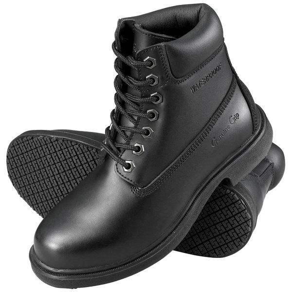 Genuine Grip 7161 Men's Black Waterproof Steel Toe Non Slip Leather Boot Main Image 1