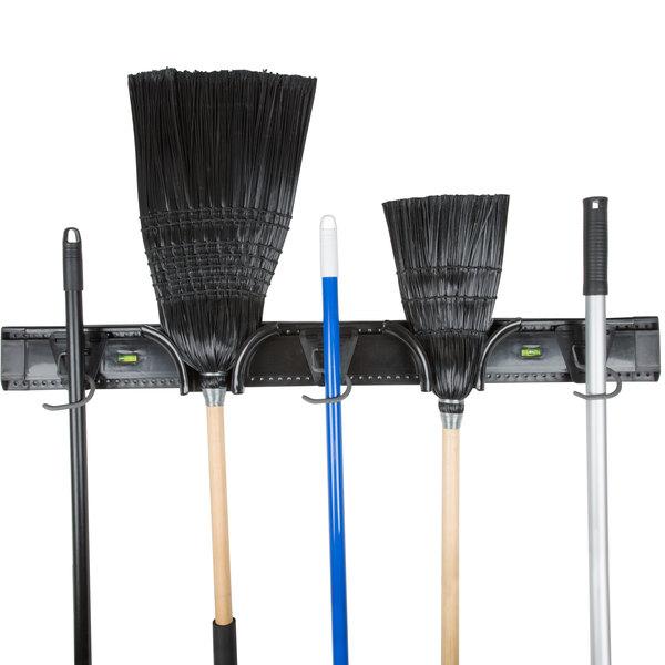 "36"" Adjustable Mop and Broom Rack"