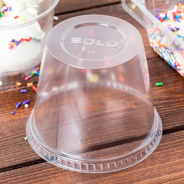 Solo DLR100-0090 Sundae Cup Dome Lid - 1000/Case Main Image 3
