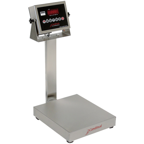 Cardinal Detecto EB-60-205 60 lb. Electronic Bench Scale with 205 Indicator and Tower Display, Legal for Trade