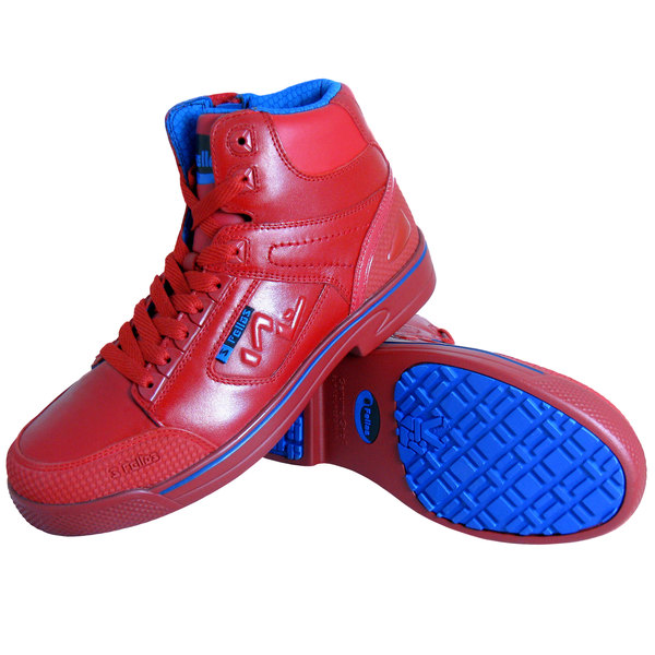 Genuine Grip 5013 Stealth Men's Red and Blue Laced Non Slip Shoe with Composite Toe and Side Zipper Main Image 1