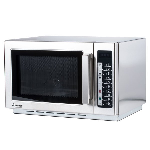 Amana Rcs10ts Stackable Commercial Microwave With Push On Controls 120v 1000w