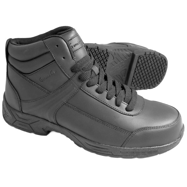 Genuine Grip 1021 Men's Black Steel Toe Non Slip Leather Boot Main Image 1