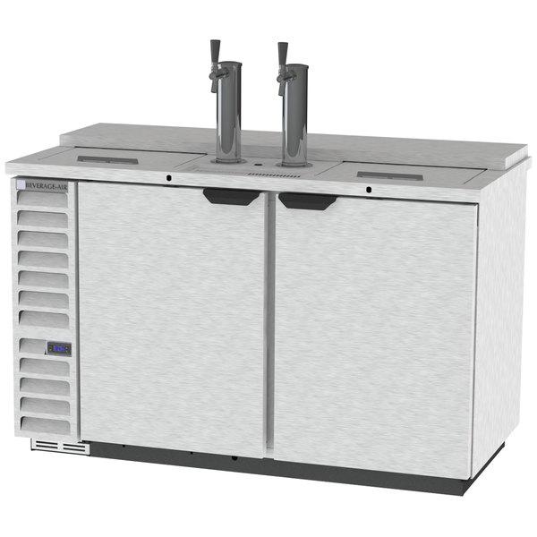 beverage air dd58hc 1 c s 2 single tap kegerator beer dispenser stainless steel front - Beverage Air Kegerator