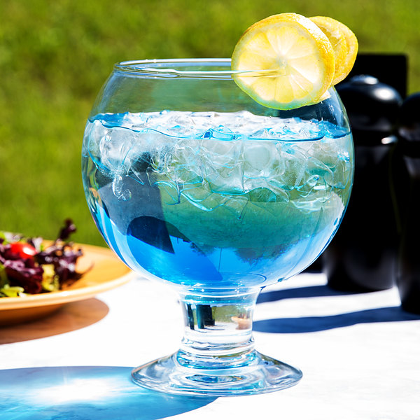 Libbey 3408 Super Stems 51 oz. Super Globe Fish Bowl Glass - 6/Case