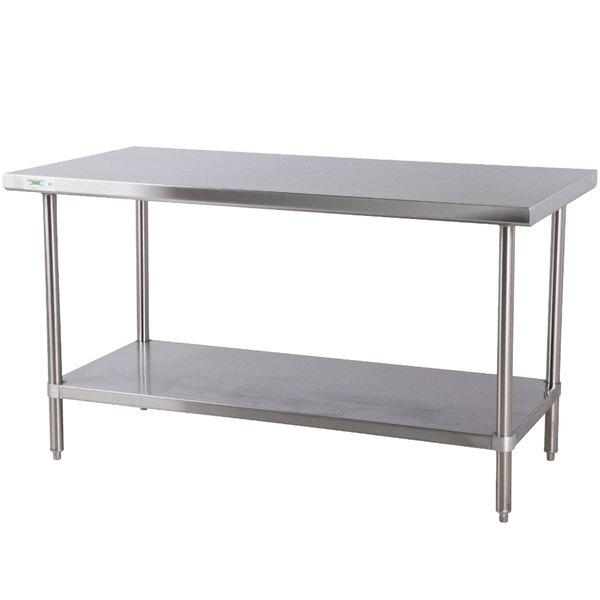 Regency X Gauge Stainless Steel Commercial Work Table - 6 foot stainless steel prep table