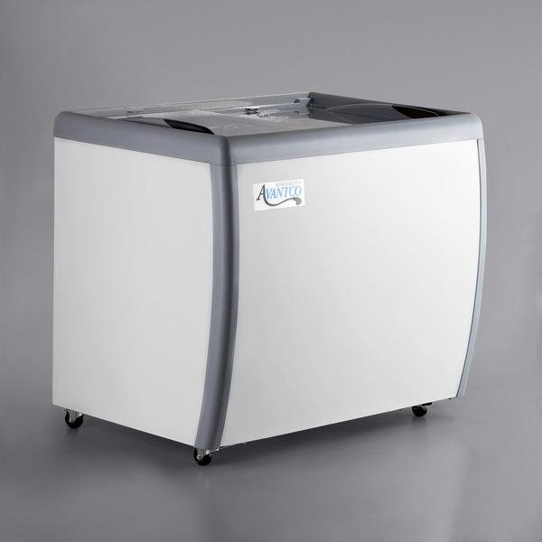Avantco DFF9-HC 39 inch Flat Top Display Ice Cream Freezer