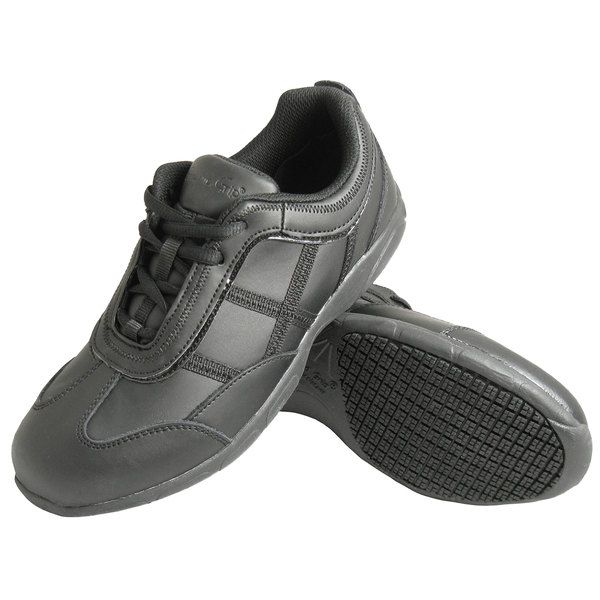 Genuine Grip 330 Women's Black Leather Casual Athletic Non Slip Shoe