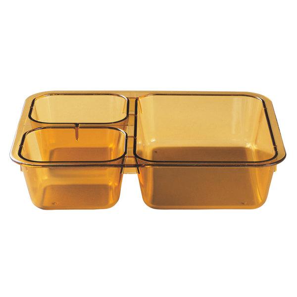 Cambro 853FH150 Amber Base Tray for Cambro 1411CW or 1411CP - 24/Case Main Image 1