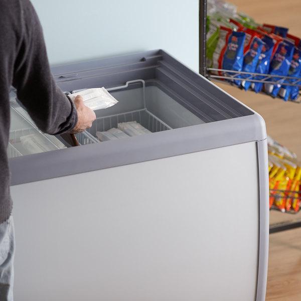 """Avantco DFF13-HC 49 3/4"""" Flat Top Display Ice Cream Freezer"""