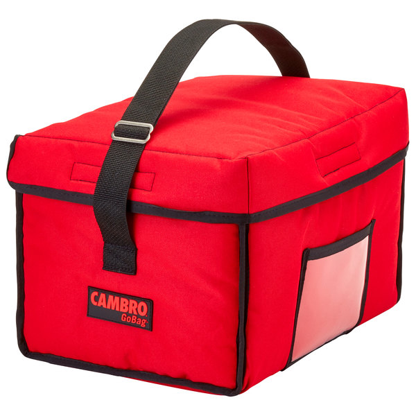 """Cambro GBD13109521 Insulated Red Small Delivery GoBag™ - 13"""" x 10"""" x 9"""""""
