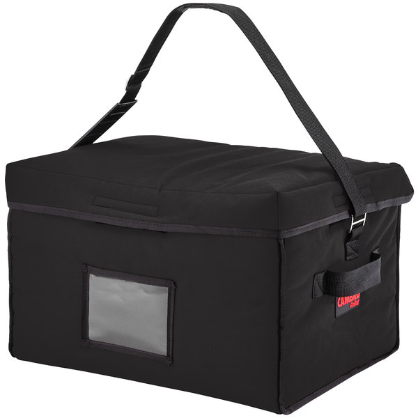 "Cambro GBD181412110 Insulated Black Jumbo Delivery GoBag™ - 18"" x 14"" x 12"""
