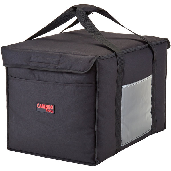 """Cambro GBD211414110 Insulated Black Large Delivery GoBag™ - 21"""" x 14"""" x 14"""""""
