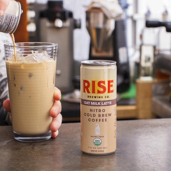 Rise Brewing Co. 7 fl. oz. Oat Milk Latte Nitro Cold Brew Coffee - 12/Case Main Image 3