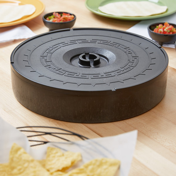 "Carlisle 071703 12"" Black Microwaveable Plastic Tortilla Server"