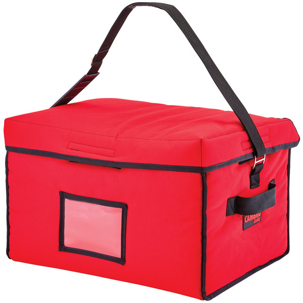 "Cambro GBD181412521 Insulated Red Jumbo Delivery GoBag™ - 18"" x 14"" x 12"""
