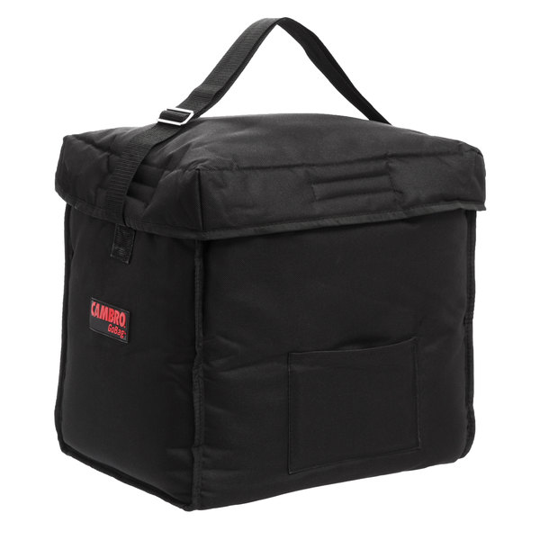 """Cambro GBD13913110 Insulated Black Small Top Loading GoBag™ - 13"""" x 9"""" x 13"""""""