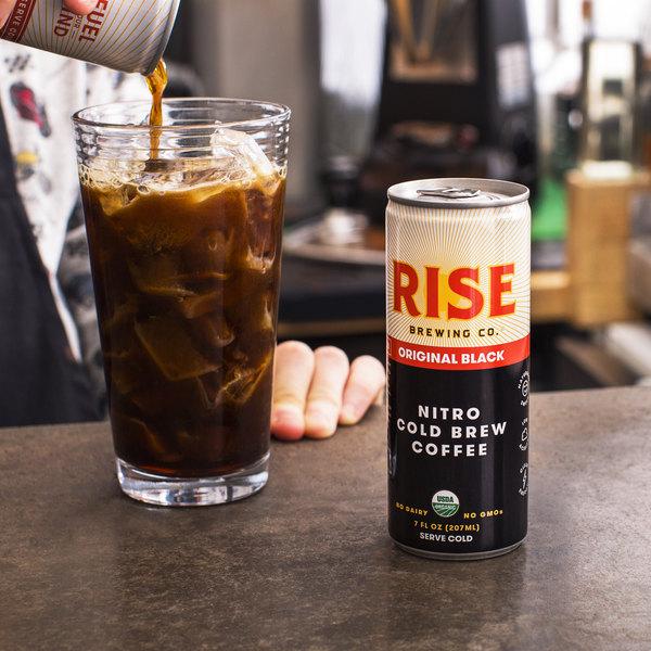 Rise Brewing Co. 7 fl. oz. Original Black Nitro Cold Brew Coffee - 12/Case Main Image 3