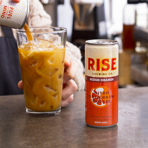 Rise Brewing Co. 7 oz. Blood Orange Nitro Cold Brew Coffee - 12/Case