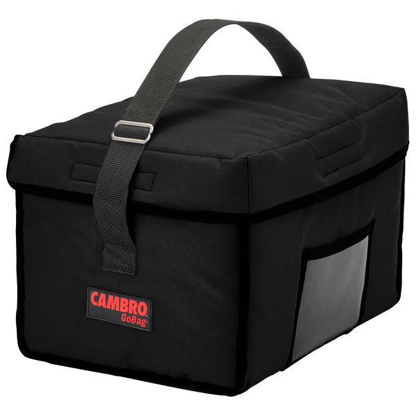 """Cambro GBD13109110 Insulated Black Small Delivery GoBag™ - 13"""" x 10"""" x 9"""""""