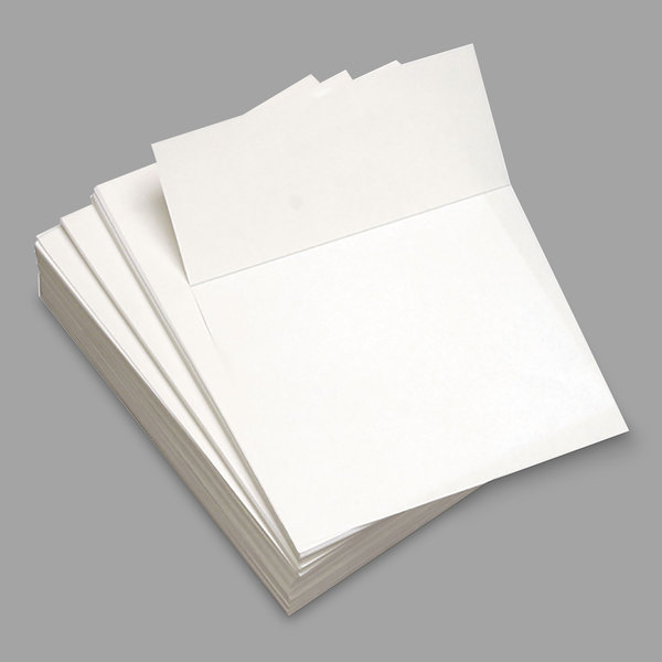 """Domtar 851032 8 1/2"""" x 11"""" White Pack of 3 2/3"""" Perforated Custom Cut-Sheet Copy Paper - 500 Sheets"""