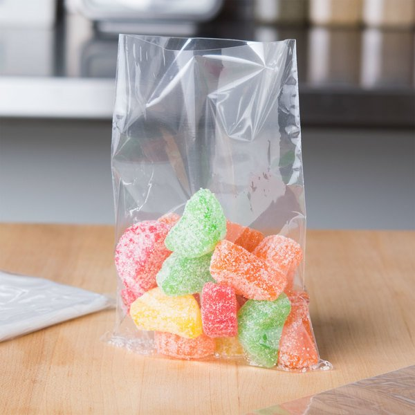 "LK Packaging P12F0436 Plastic Food Bag / Candy Bag 4 3/4"" x 6 3/4"" - 5000/Box Main Image 3"