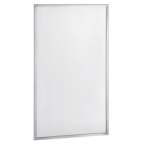 """Bobrick B-165 1830 18"""" x 30"""" Wall-Mounted Mirror with Stainless Steel Channel Frame Main Image 1"""