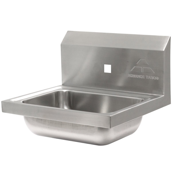 """Advance Tabco 7-PS-71 Hand Sink with One Splash Hole - 15 1/4"""" x 17 1/4"""""""