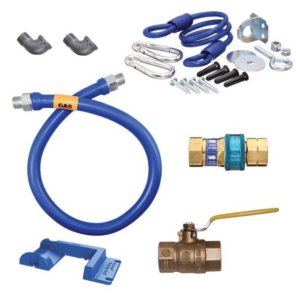 "Dormont 16100KIT48PS Deluxe SnapFast® 48"" Gas Connector Kit with Safety-Set® - 1"" Diameter"