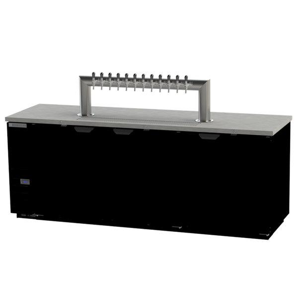 Beverage-Air DD94HC-1-B-12T 12 Tap Kegerator Beer Dispenser - Black, (5) 1/2 Keg Capacity
