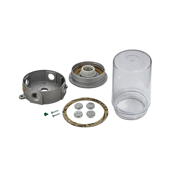 All Points 801-2557 Light Fixture with Junction Box and Lexan Globe Main Image 1