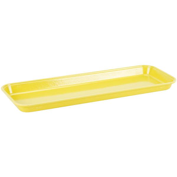 "Cambro 92615MT145 Yellow Fiberglass Market Pan 9"" x 26"" - 12/Case Main Image 1"