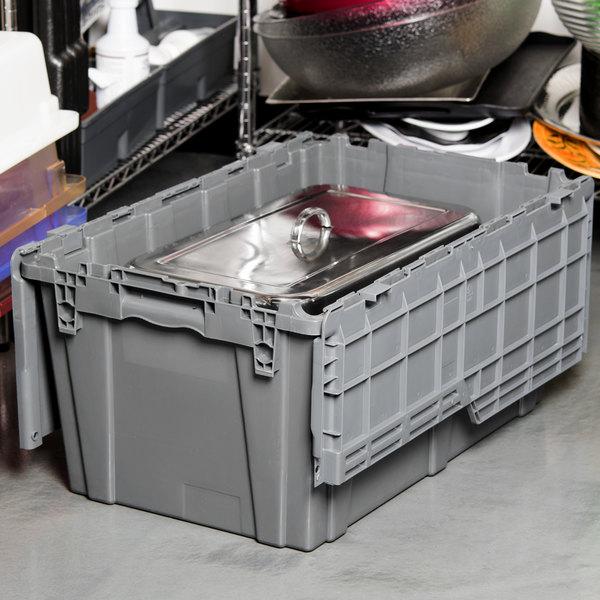 "Choice 25"" x 15"" x 12"" Gray Chafer / Storage Box"