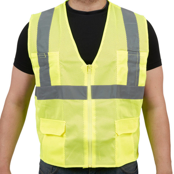 Lime Class 2 High Visibility Surveyor's Safety Vest - XL