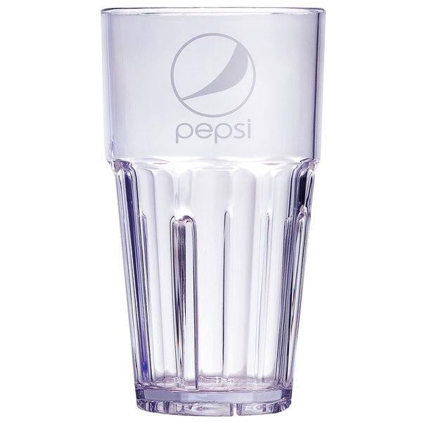 6616 Plastic Glasses Pepsi NEW SALE  Restaurant Tumblers Blue Cups 16oz G.E.T