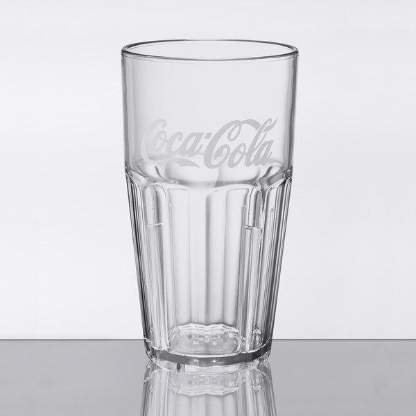 GET 9916-CC Coca-Cola® Bahama 16 oz  Clear SAN Plastic Tumbler - 72/Case