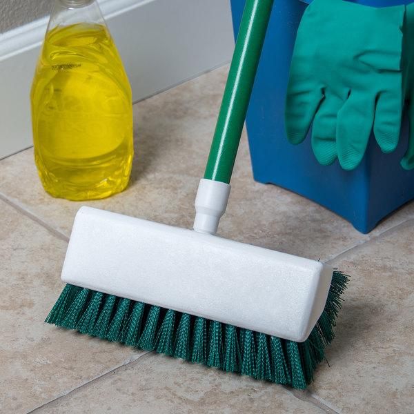 """Carlisle 40423EC09 Sparta Spectrum 10"""" Hi-Lo Green Floor Scrub Brush Main Image 3"""