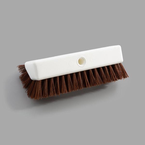 """Carlisle 40423EC25 Sparta Spectrum 10"""" Hi-Lo Tan Floor Scrub Brush Main Image 1"""