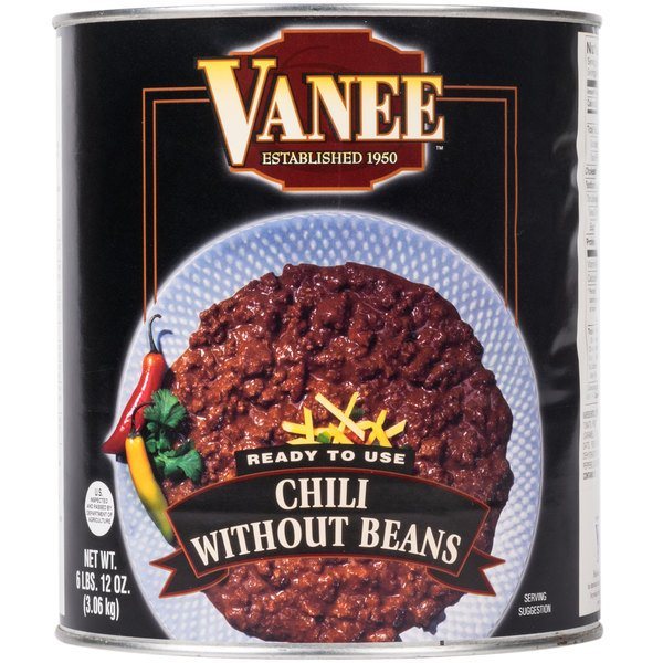 Vanee 390VG Chili without Beans #10 Can