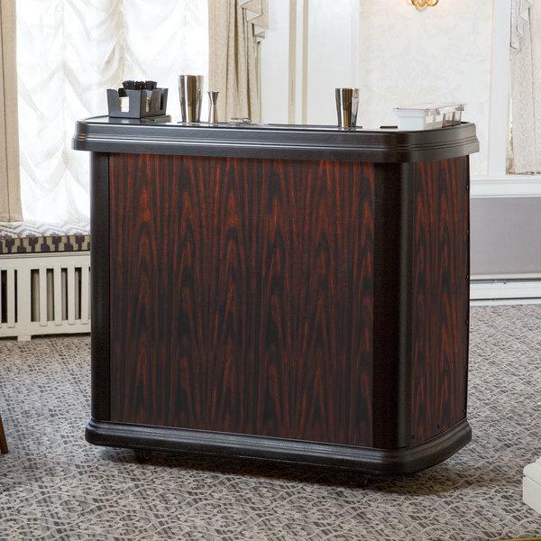 "Carlisle 7550094 Cherry Wood Maximizer Portable Bar - 56"" x 26 1/2"" x 48"""