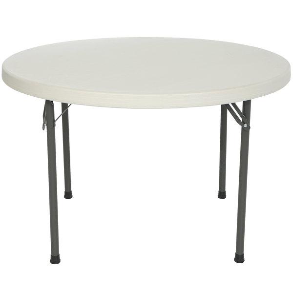 "Lifetime Round Folding Table, 46"" Plastic, Almond - 2968"